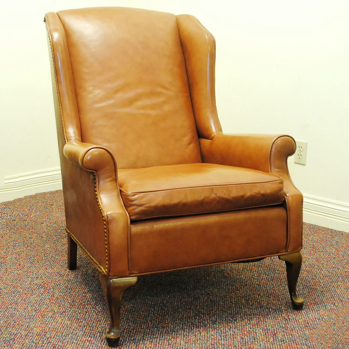 Vintage Leather Wingback Chair From Joseph Lang Furniture ...