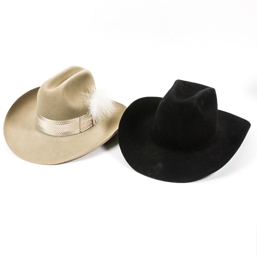 1c01ae54f4019 Pair of Resistol Cowboy Hats   EBTH
