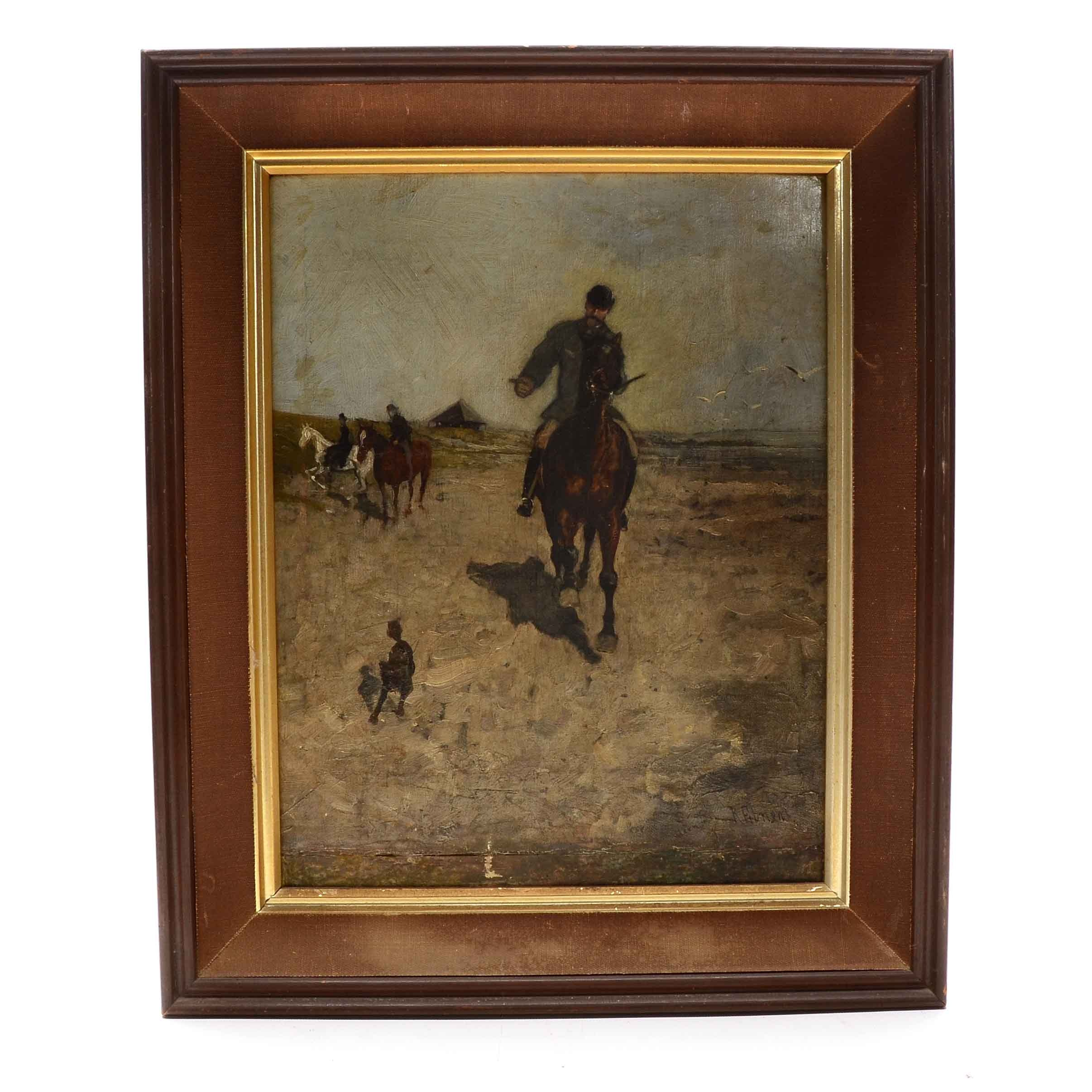 Richard Ebner Original Oil Painting on Canvasboard