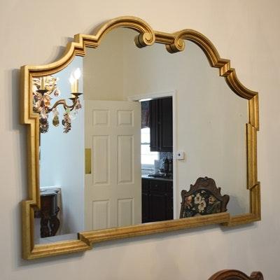 Venetian Style Rectangular Gilt Wall Mirror