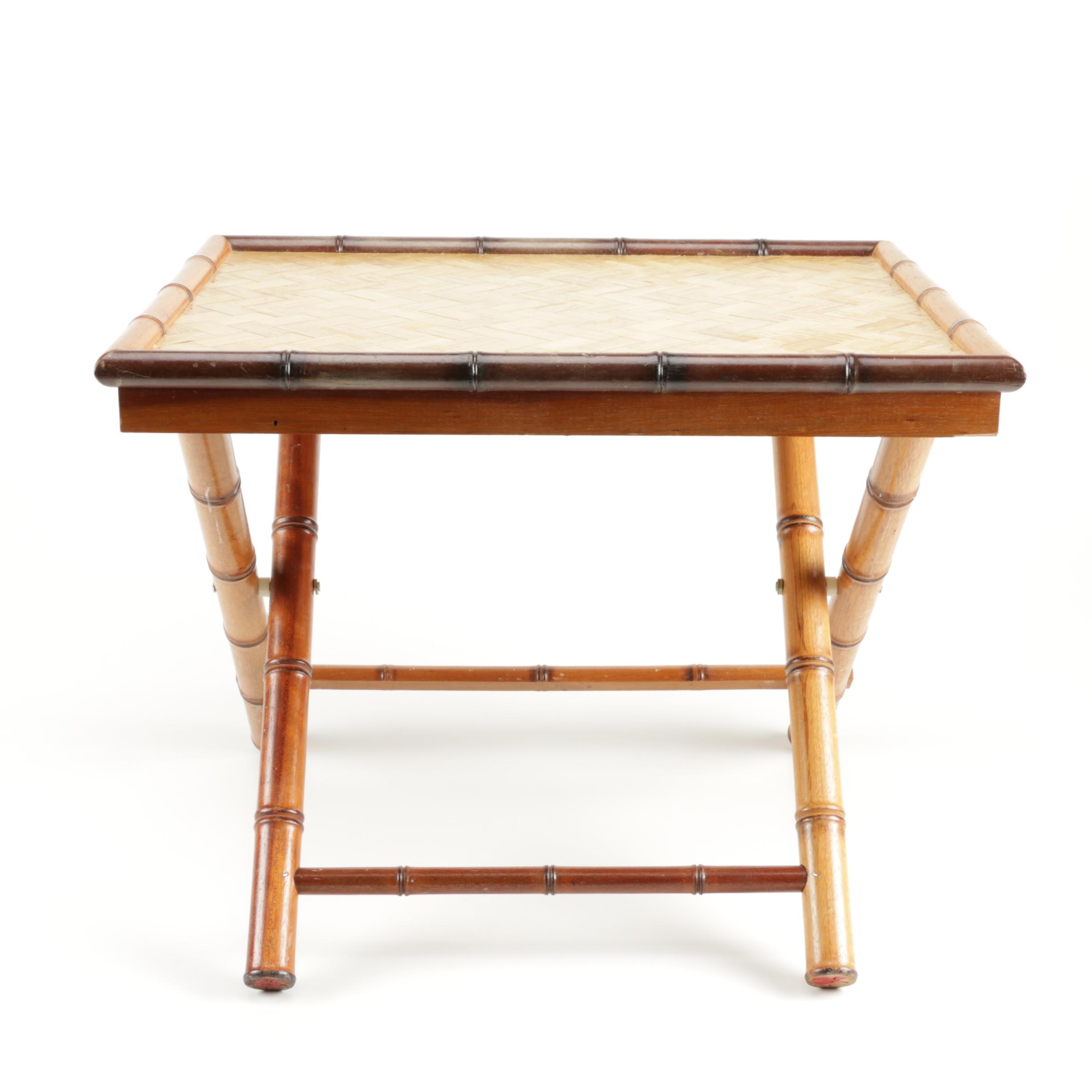 Faux Bamboo Folding Table EBTH