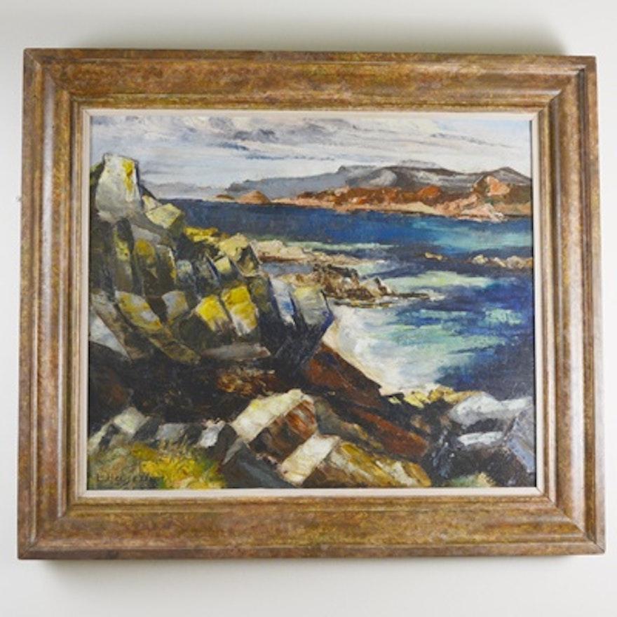 L. Hensen Original Oil Painting of Landscape