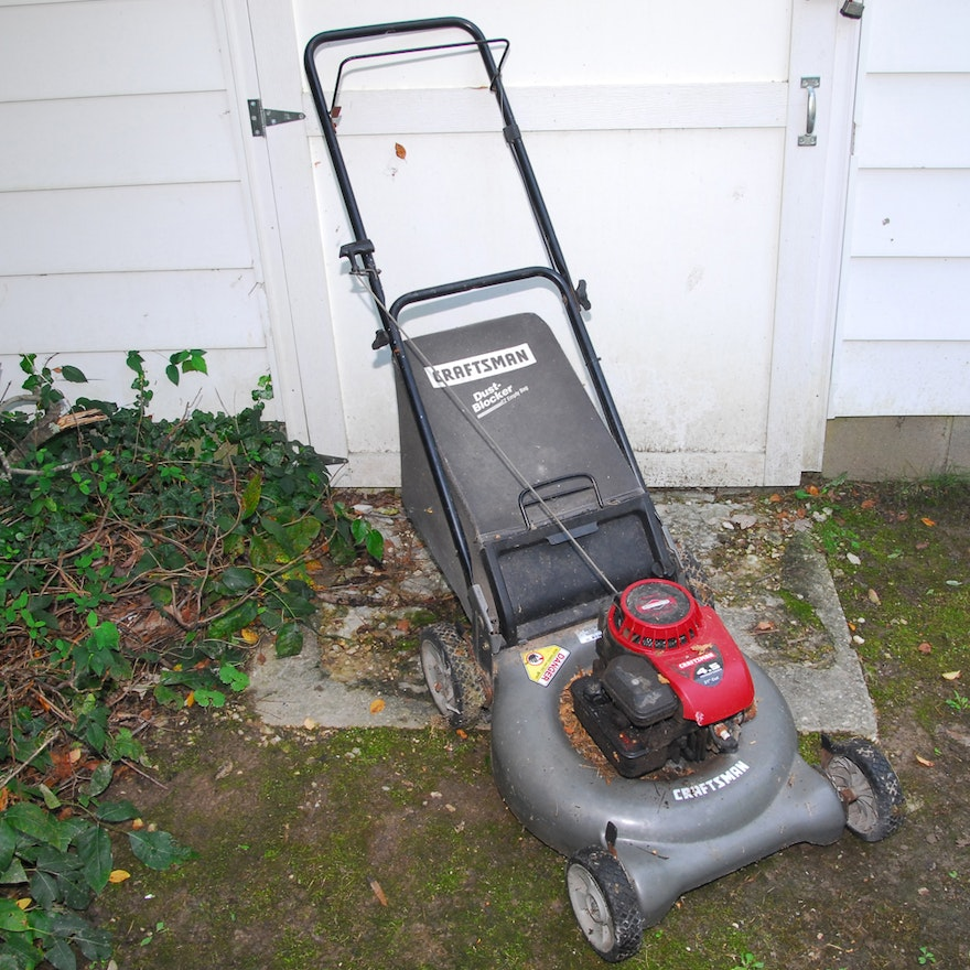 Craftsman Mower With Collection Bag