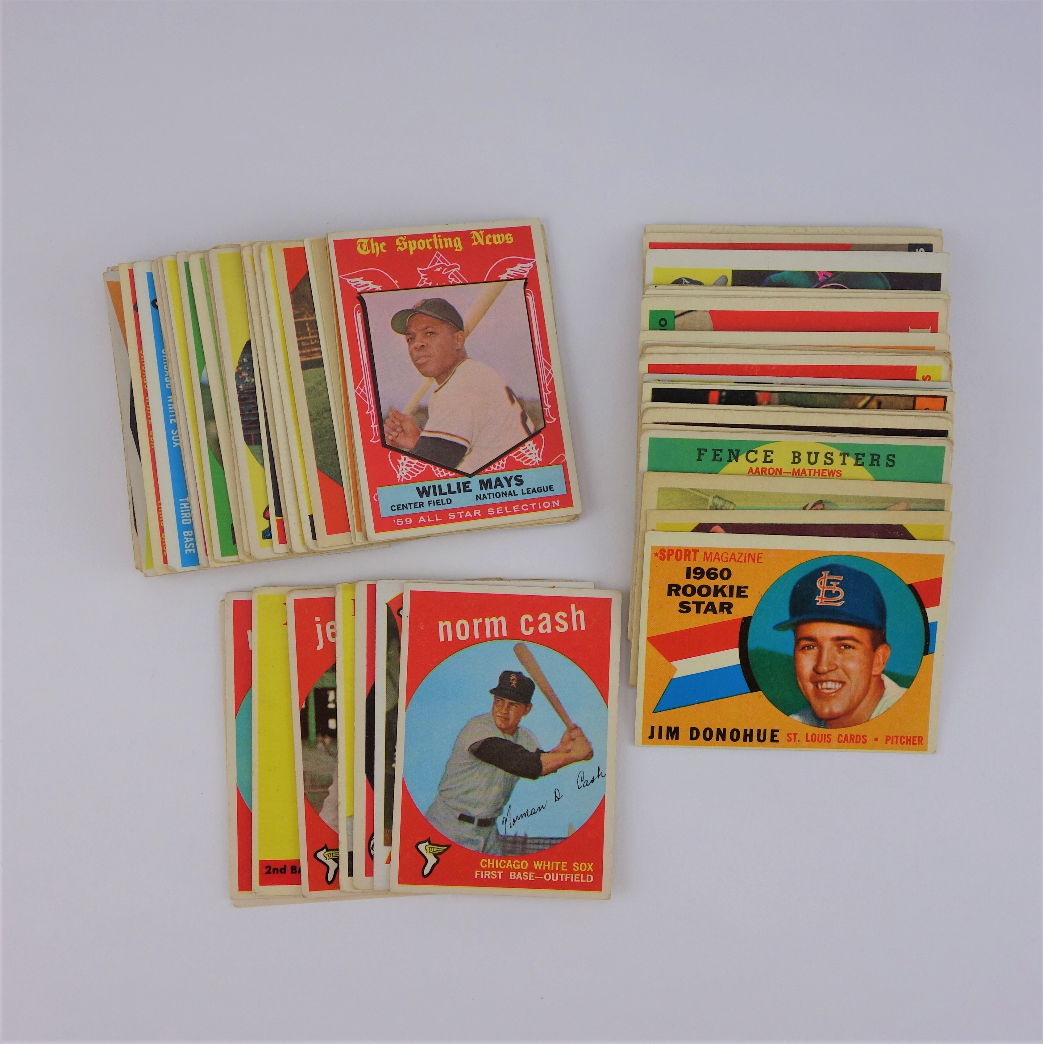 1950s and 1960s Topps Baseball Cards