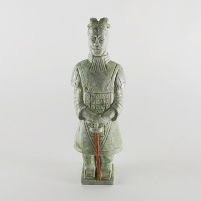 Hardstone Chinese Soldier Sculpture