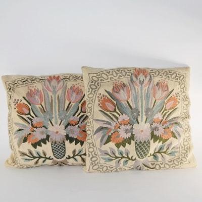 Floral Needlepoint Pillows
