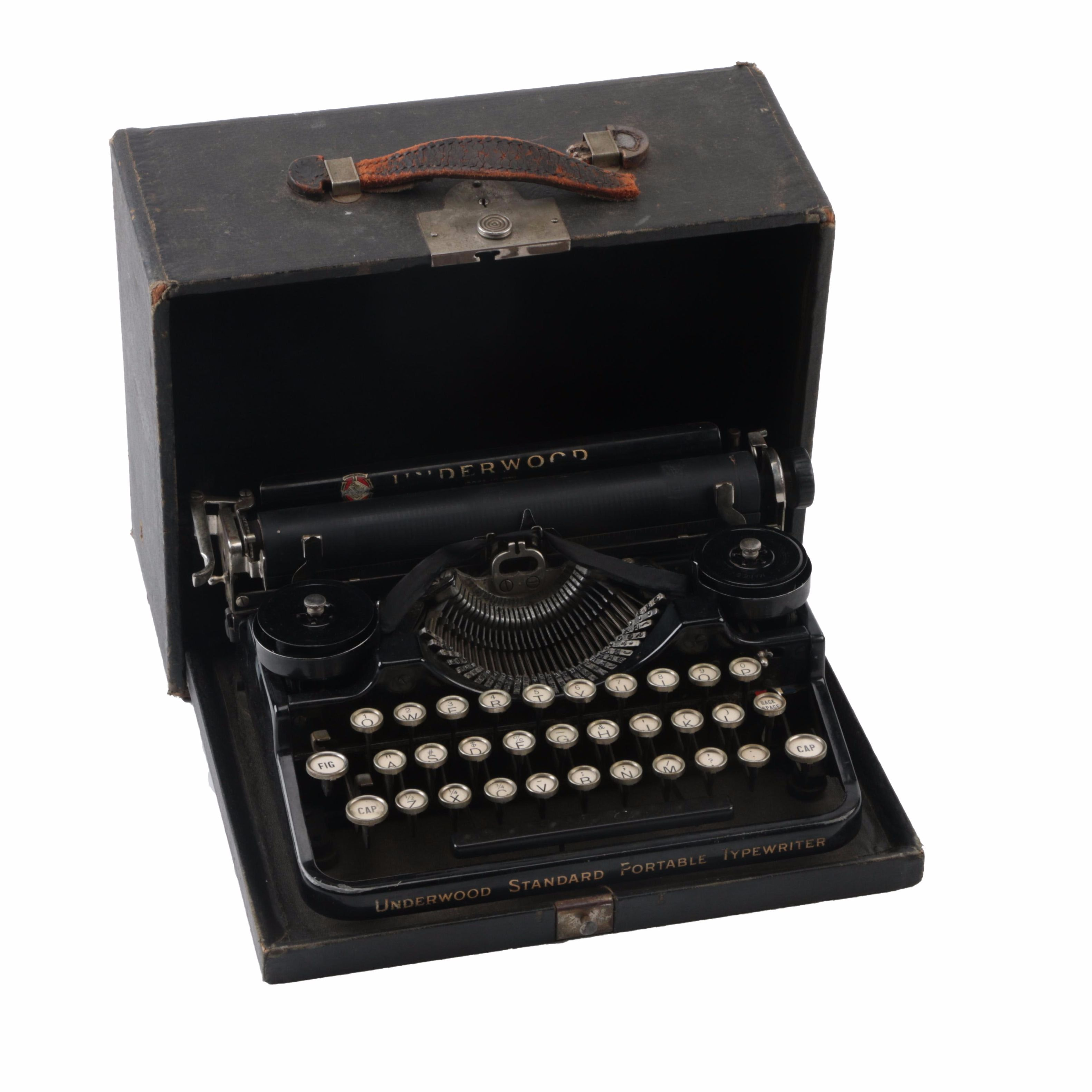 Vintage Underwood Standard Portable Typewriter