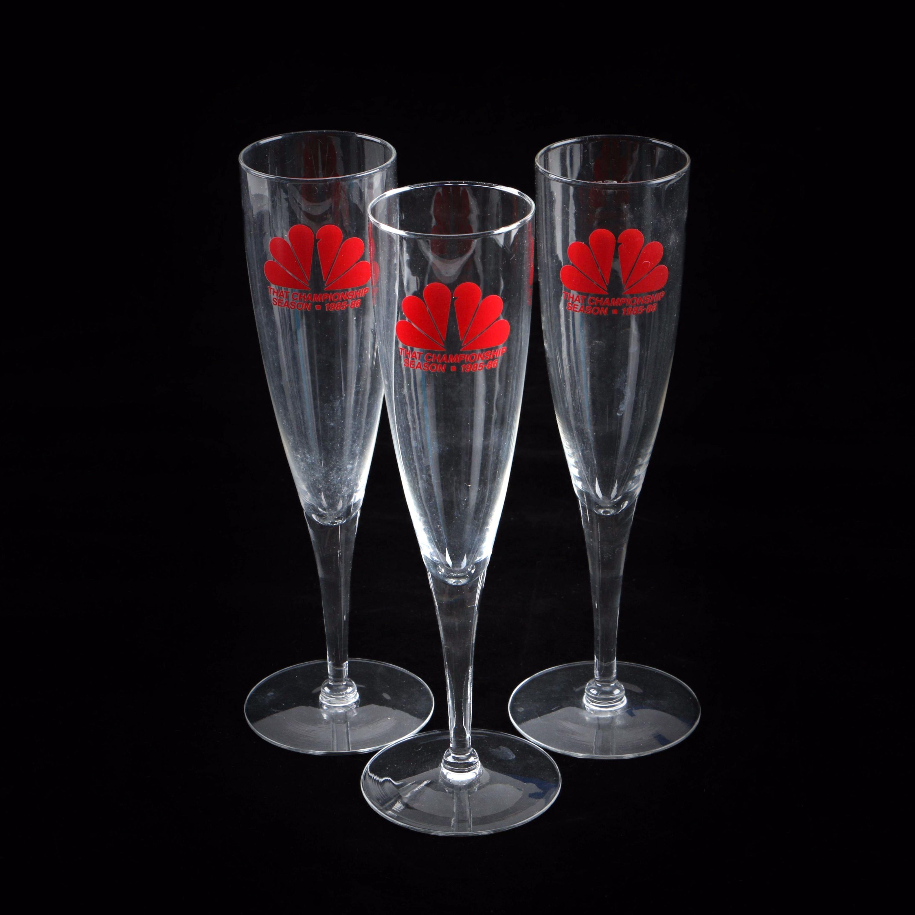 Commemorative Champagne Flutes