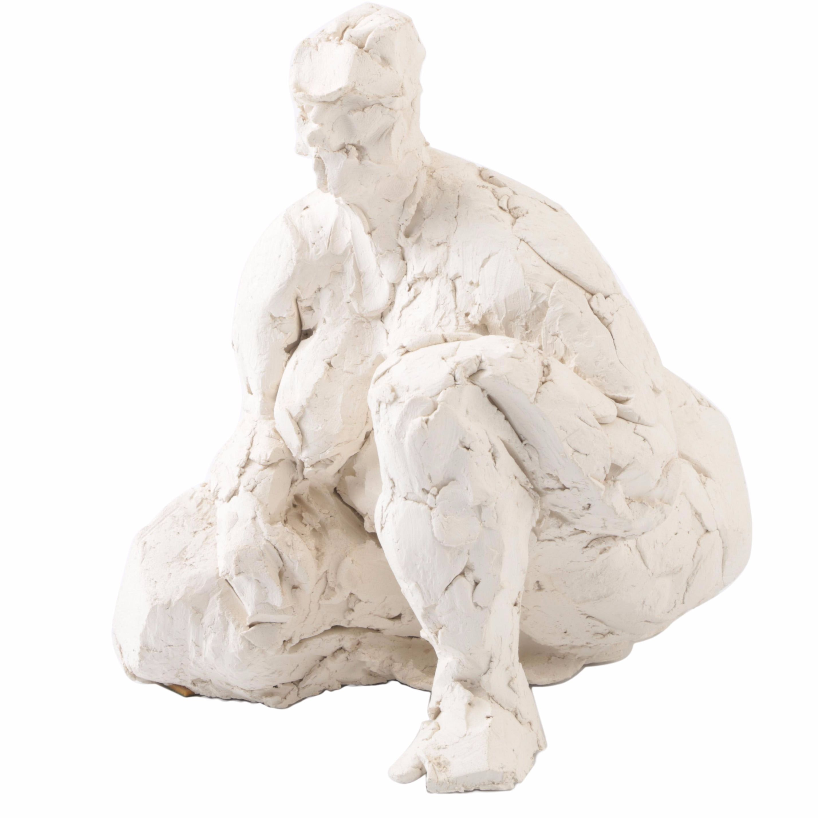 James Maher Plaster Sculpture Sketch of a Woman