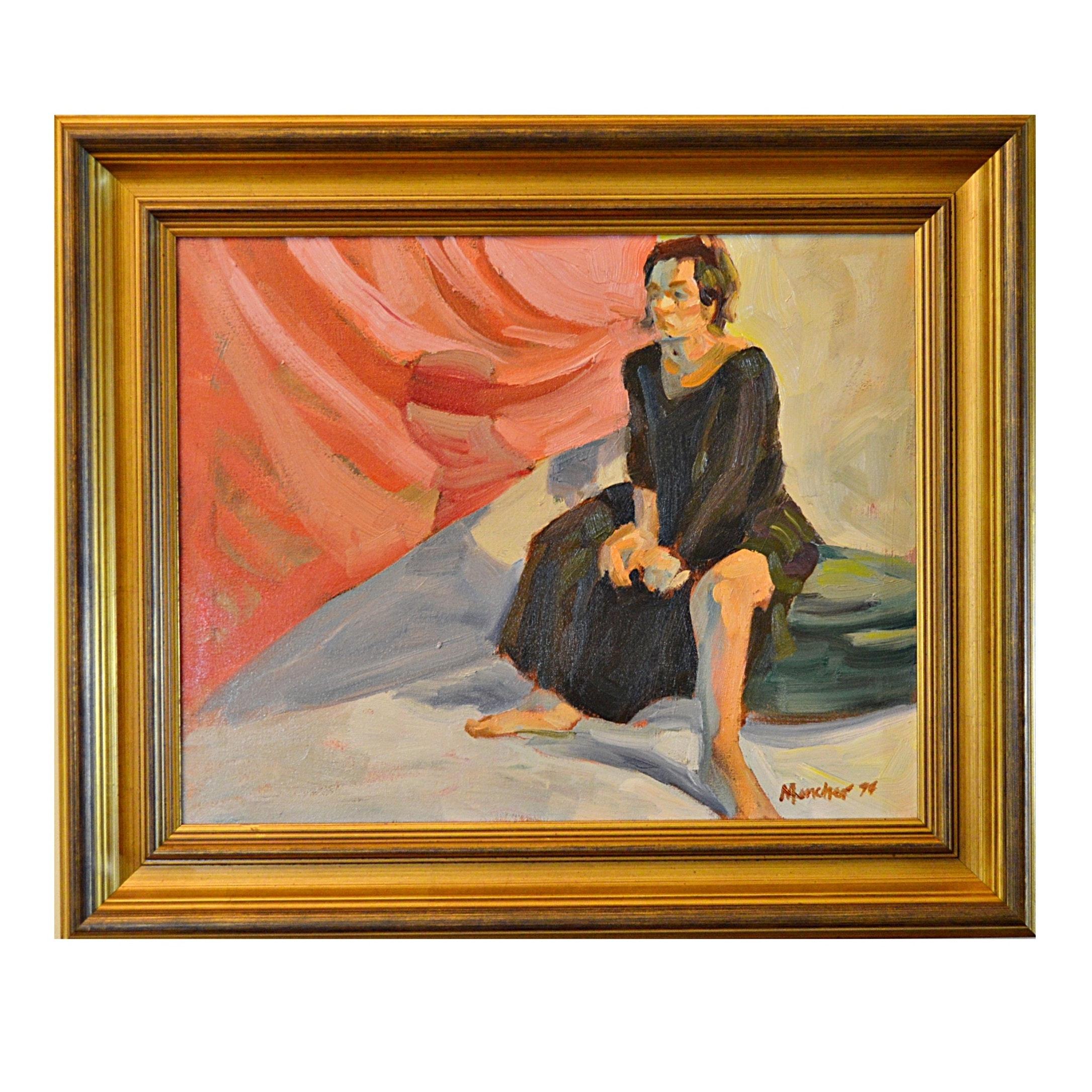 Kenney Mencher Original Oil on Canvas