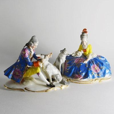Victorian Chelsea Porcelain Figurines