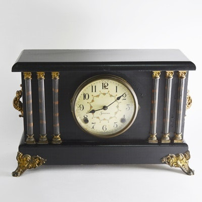 Sessions Black Lacquer Mantel Clock