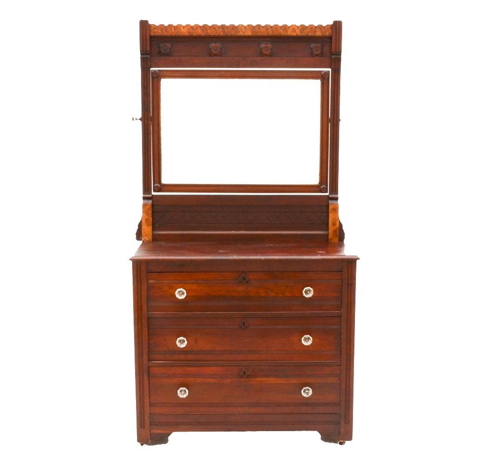 Antique Victorian Eastlake Dresser With Mirror Ebth