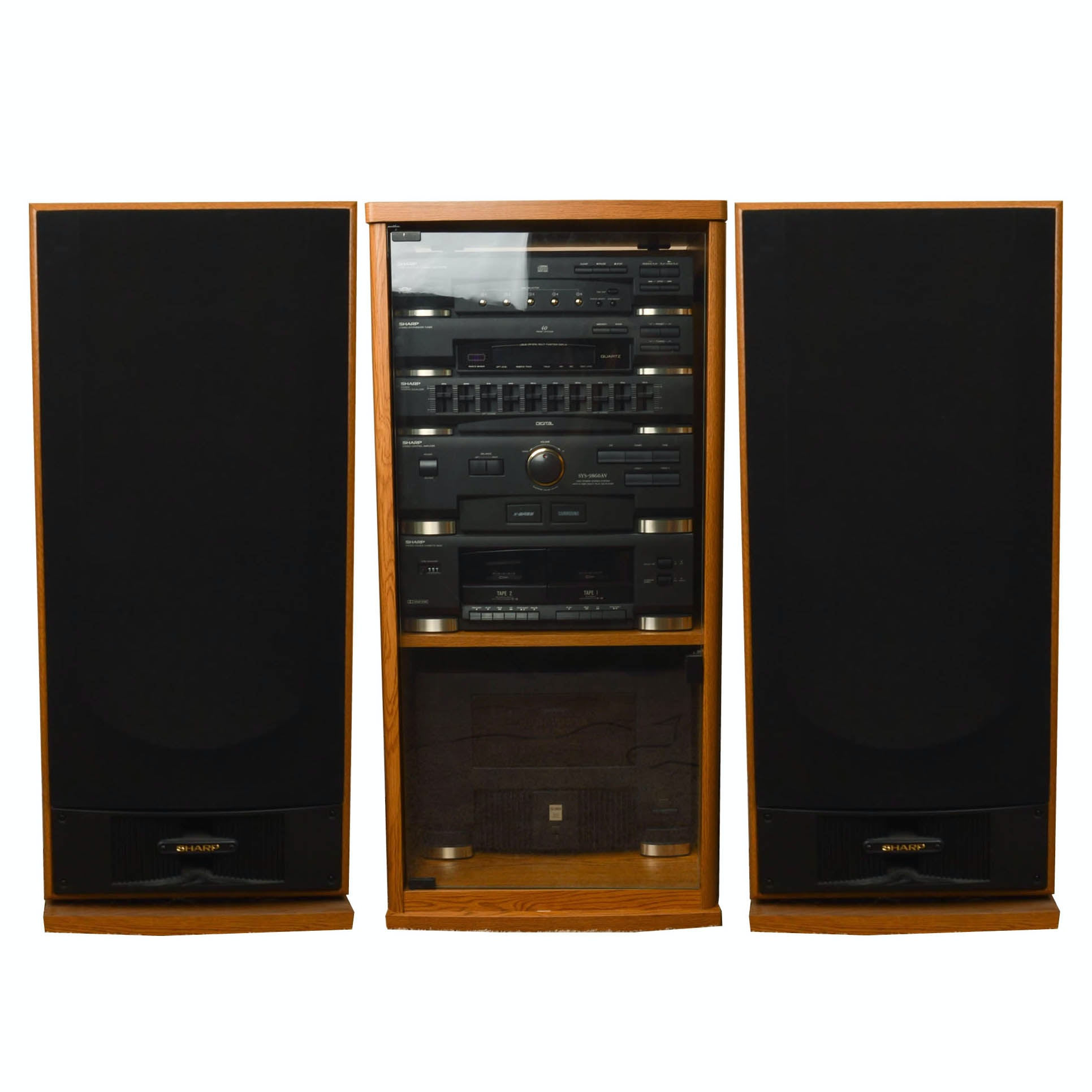 Sharp Stereo Components, Cabinet And Floor Speakers ...