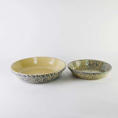Robinson Ransbottom Pottery Spongeware Dishes