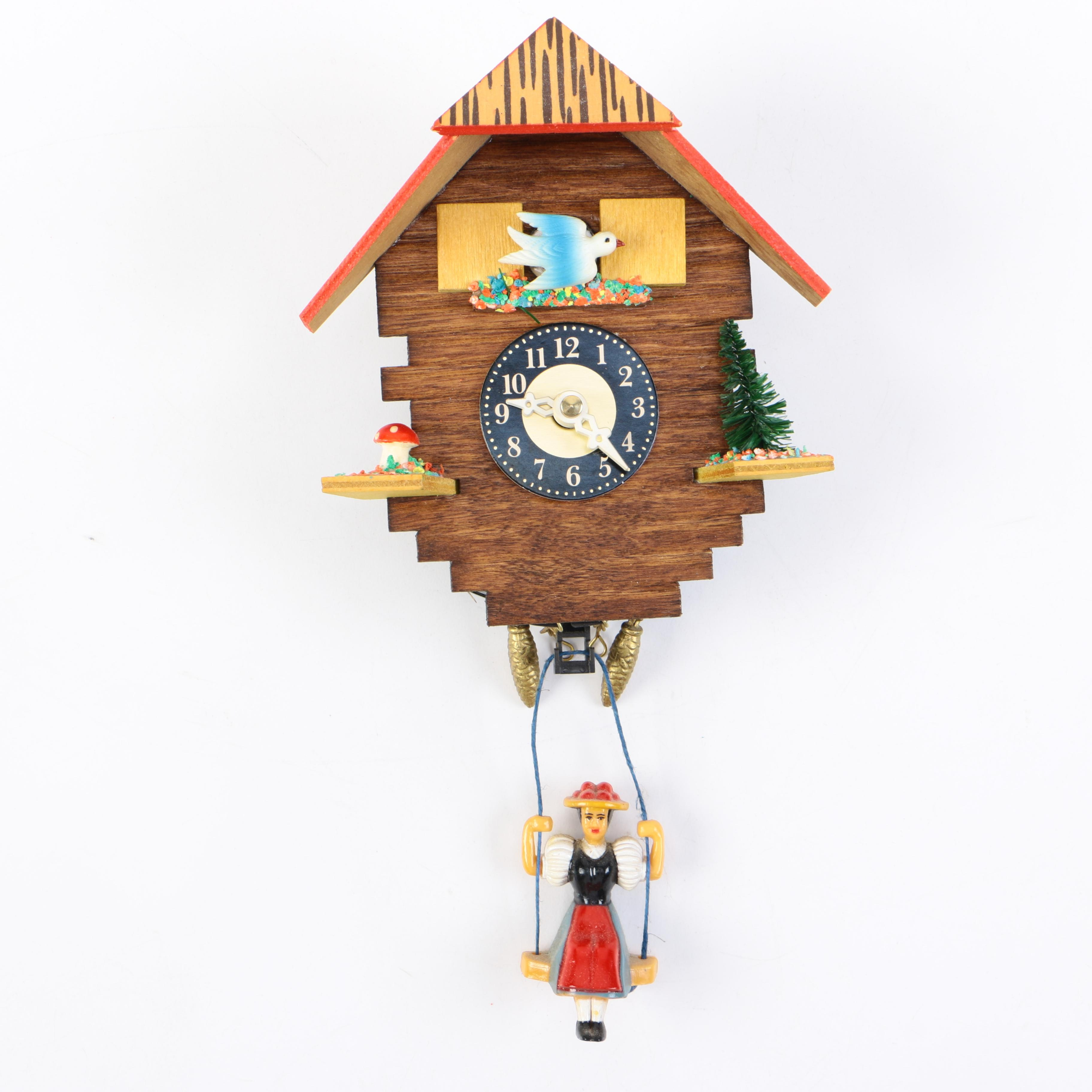Wooden Analog Cuckoo Wall Clock : EBTH