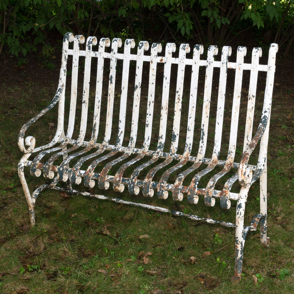 Cast Iron Garden Bench ...
