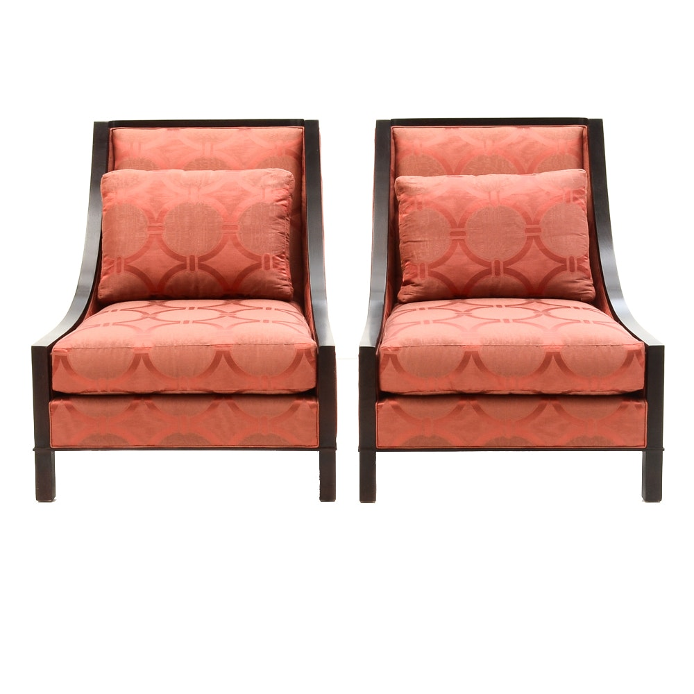 Baxter Red Lounge Chairs