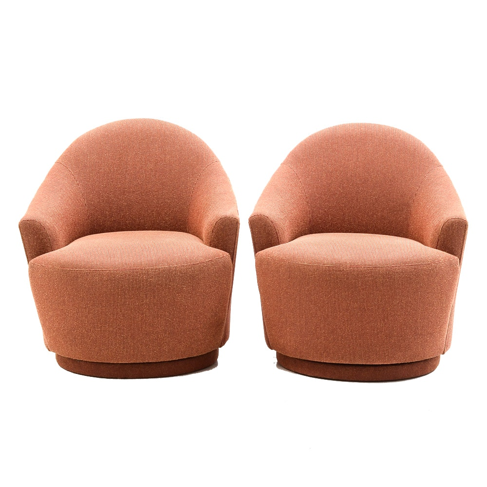 Contemporary Modernist Red Lounge Chairs