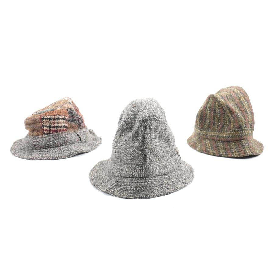 Three Tweed Bucket Hats 1b2786bd6d7