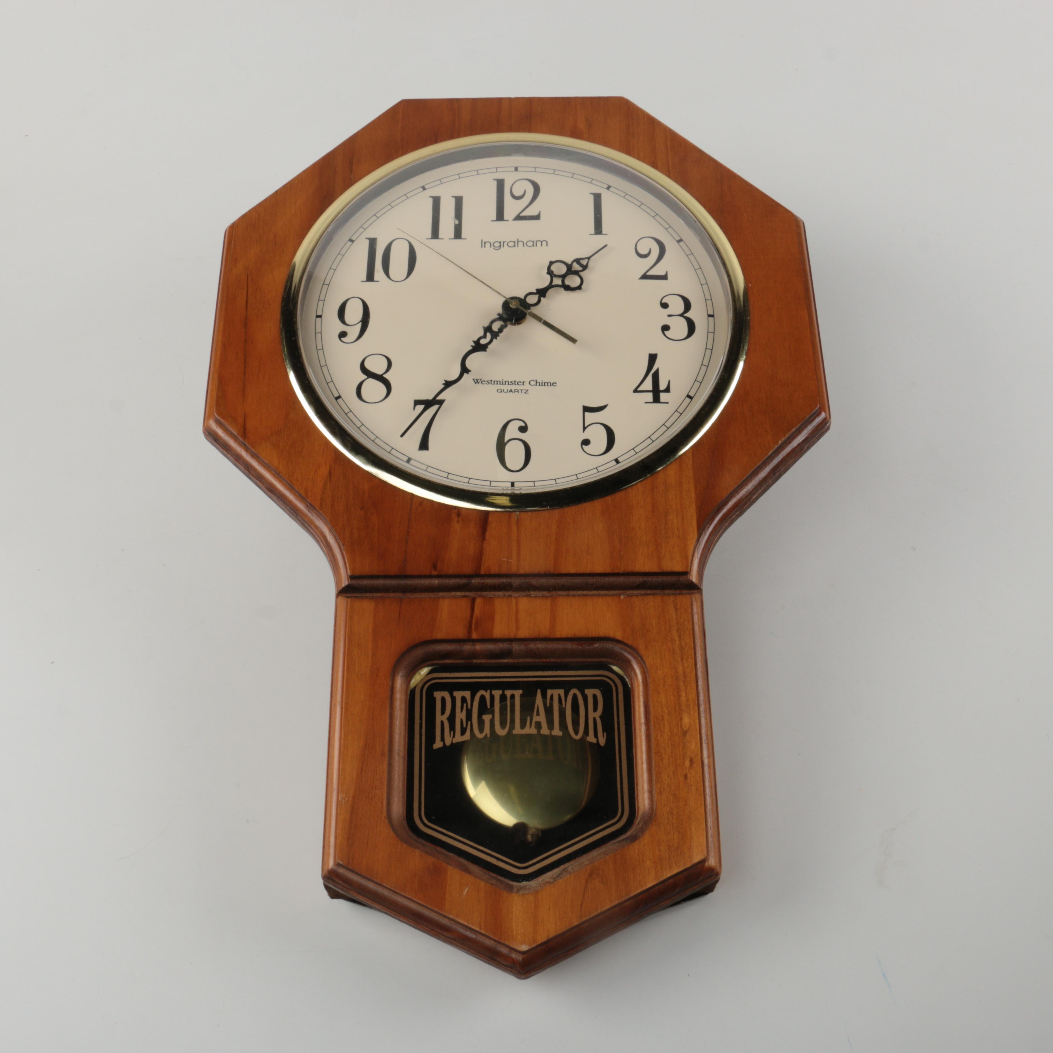 Ingraham Westminster Chime Quartz Regulator Wall Clock EBTH