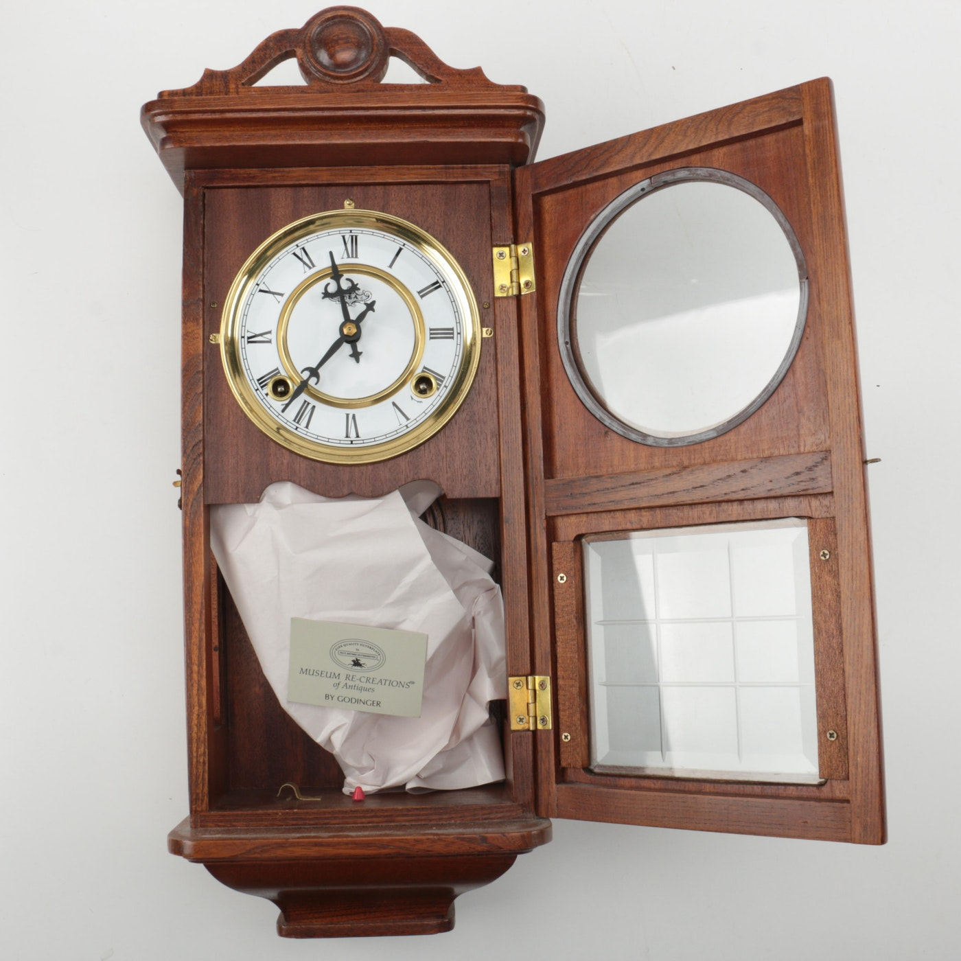 Wooden Centennial Parlor Replica Wall Clock Ebth