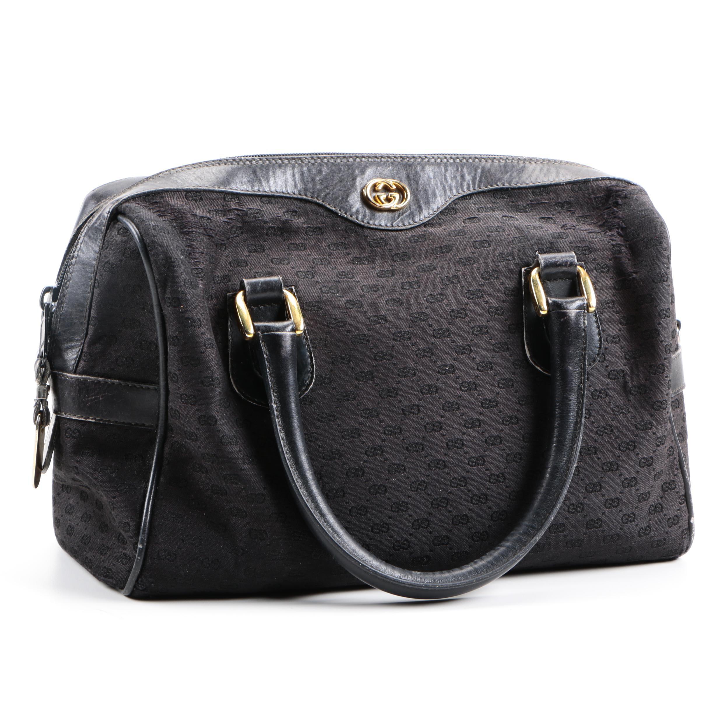 Gucci Monogram Black Canvas Bag