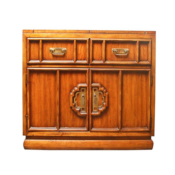 Vintage Stanley Furniture Wooden Bar Cabinet ...