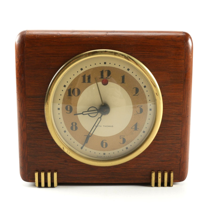 Art Deco Electric Desk Clock By Seth Thomas Ebth