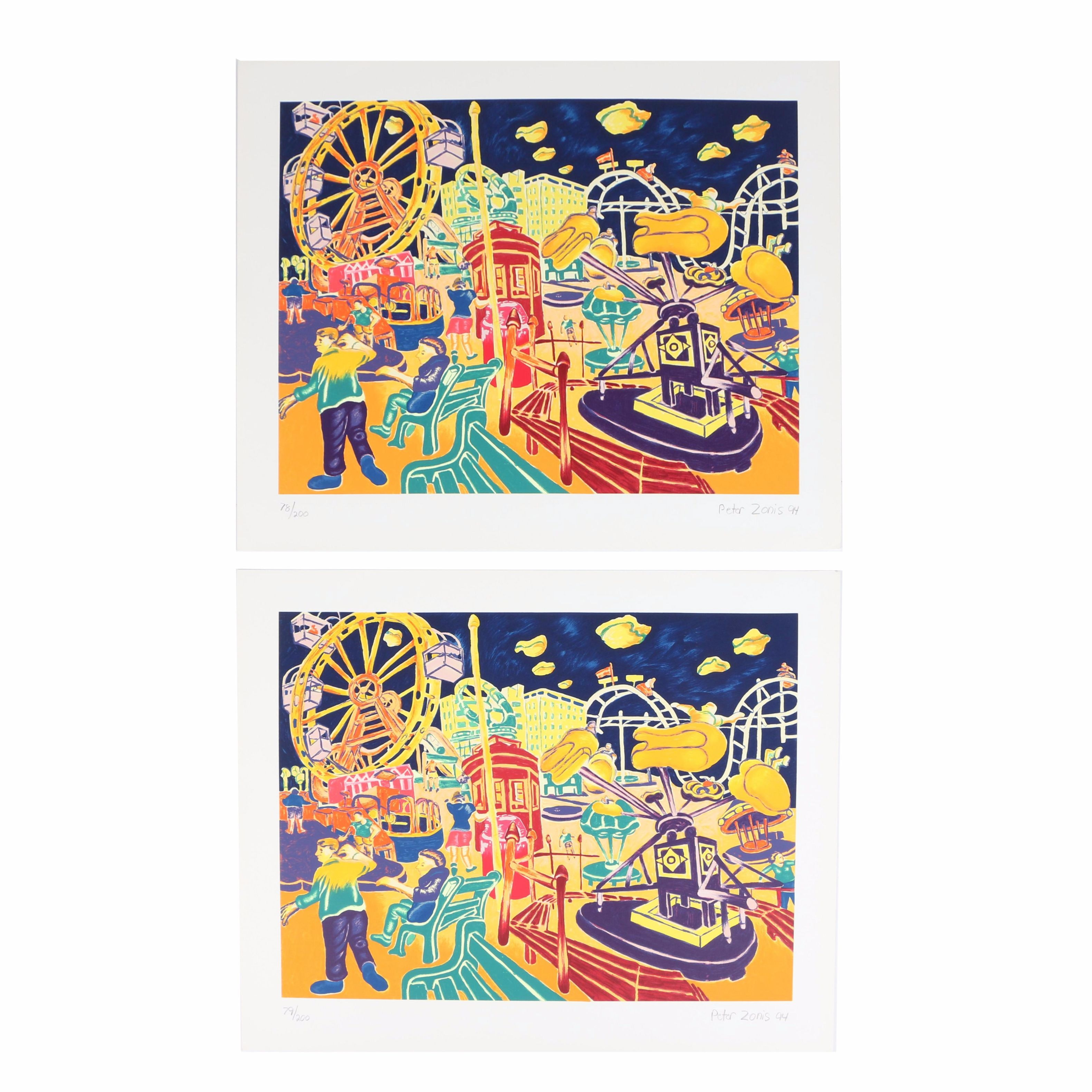 Peter Zonis Limited Edition Serigraphs of a Carnival