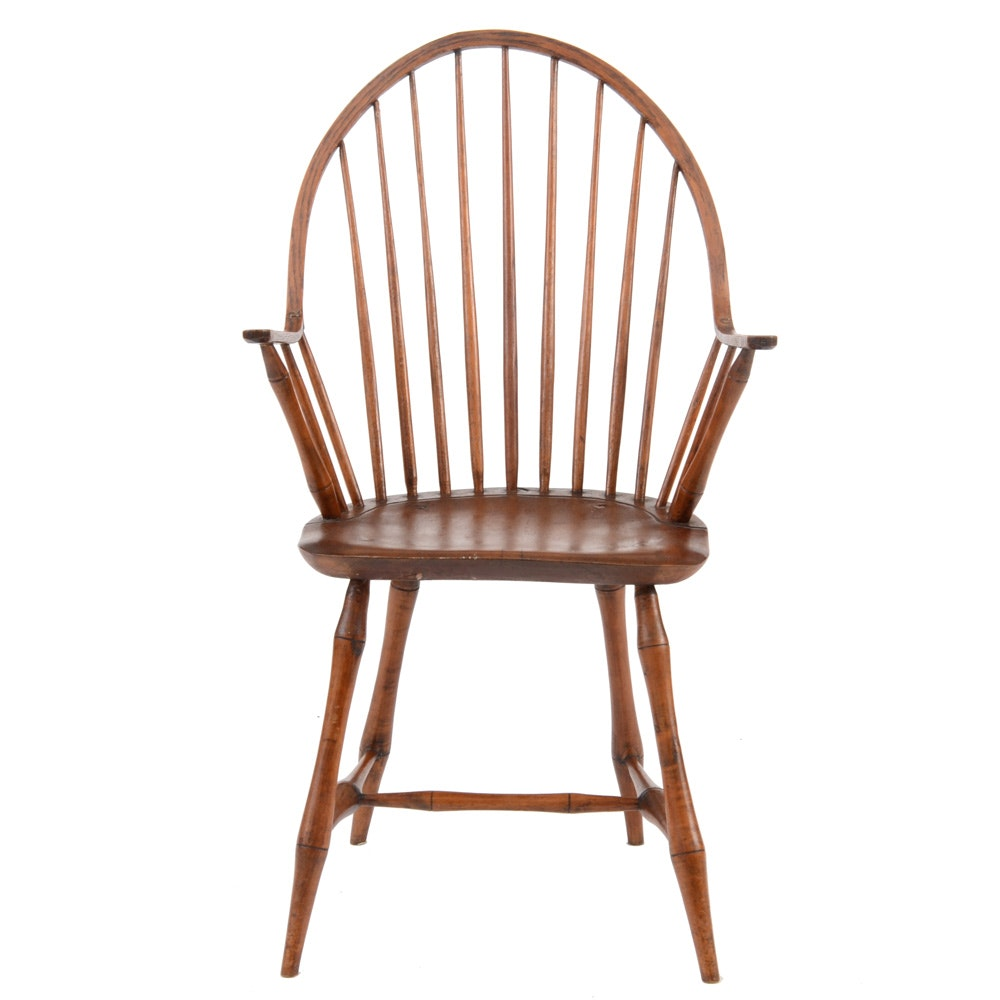 Early 1800s Bow Back Windsor Arm Chair ...