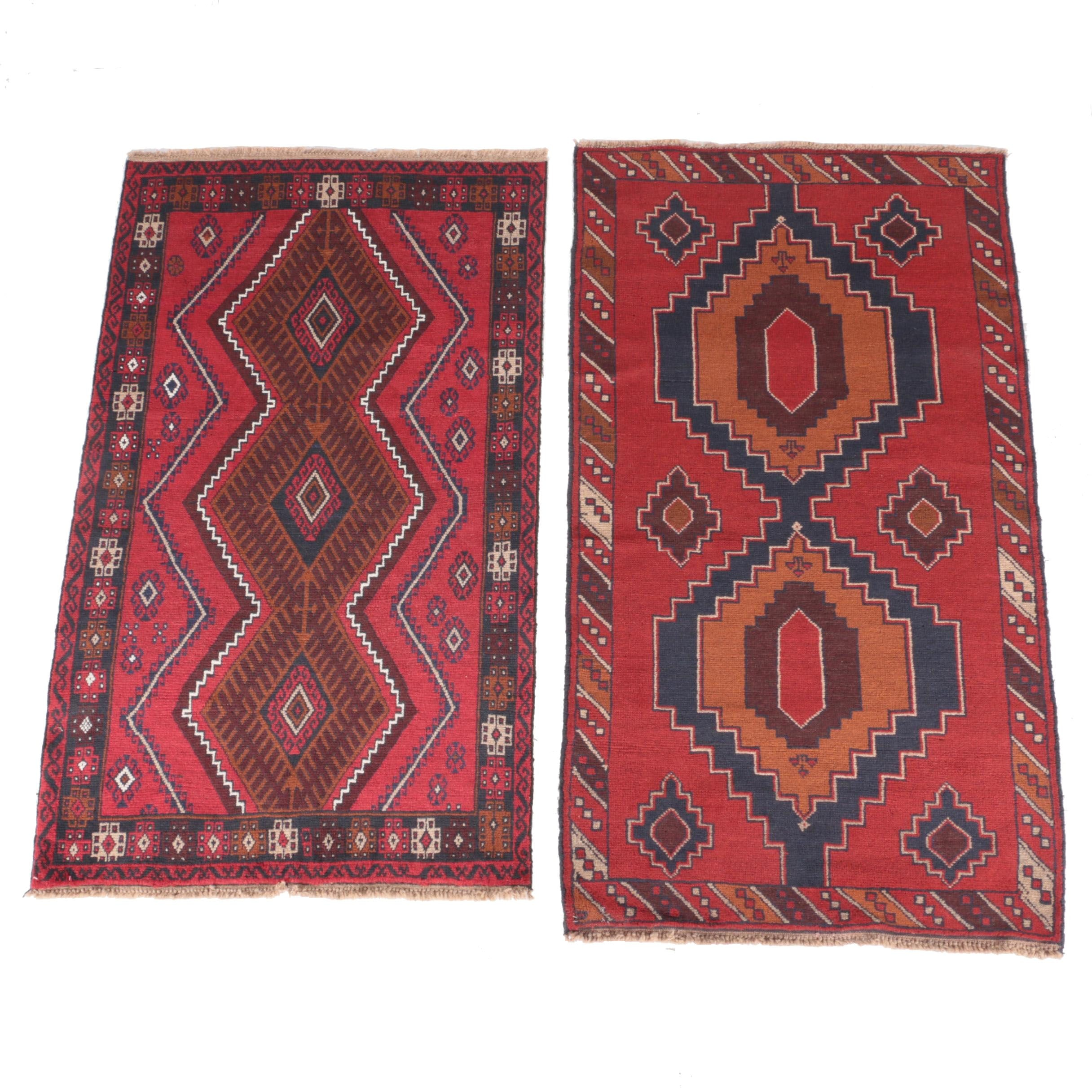 Pair of Hand-Knotted Baluchi Wool Area Rugs