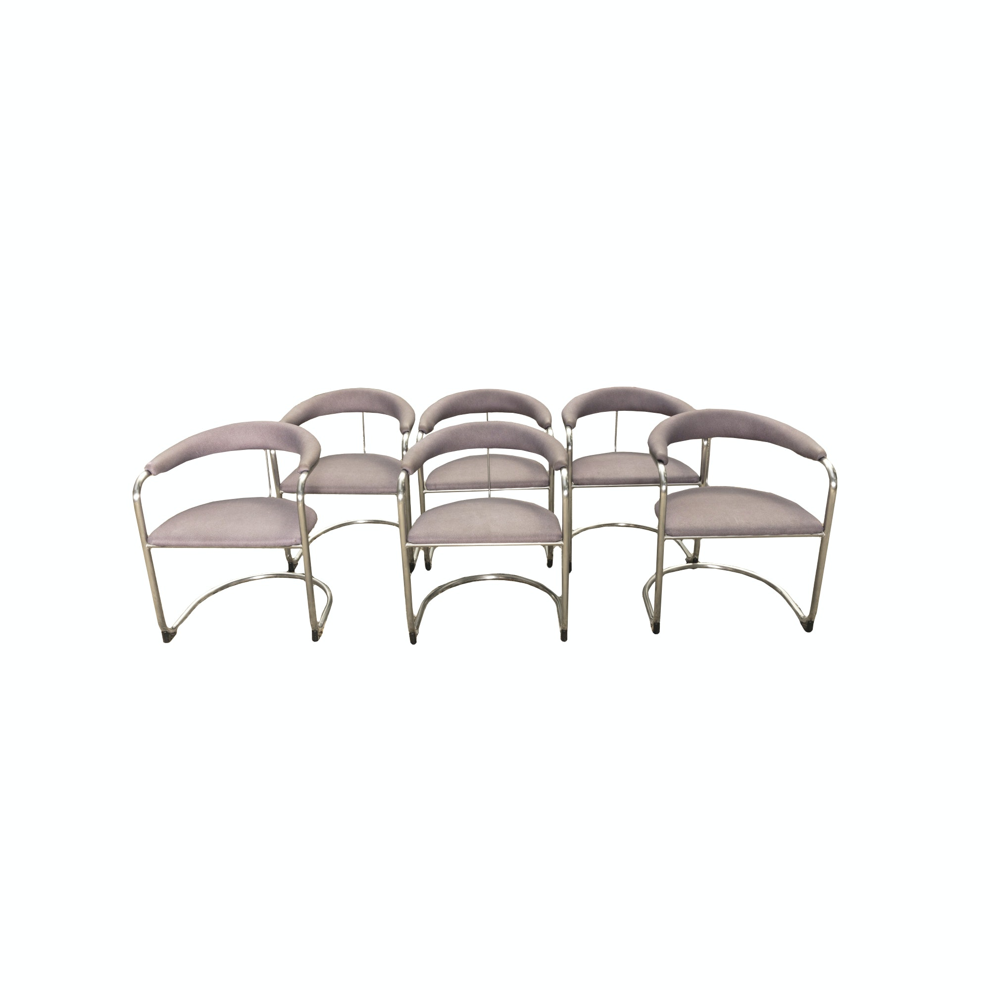 Thonet Metal Upholstered Armchairs