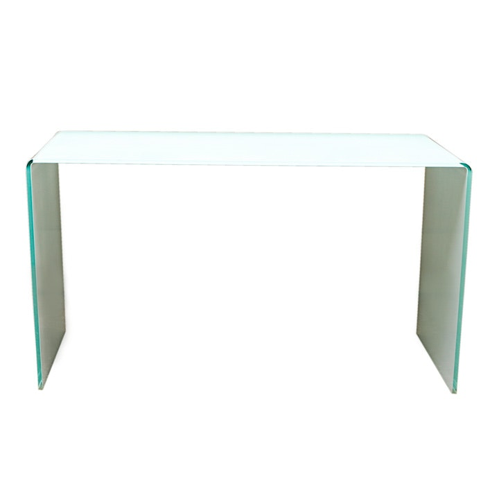 Contemporary Frosted Glass Console Table