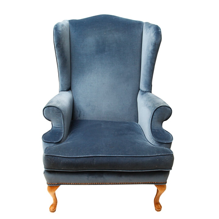 Queen Anne Style Wingback Chair