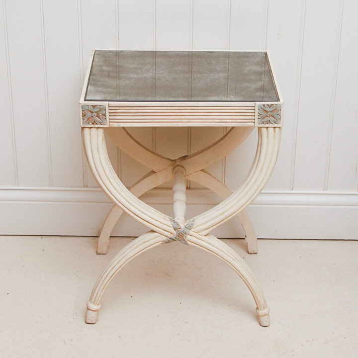 Empire Style Curule Side Table