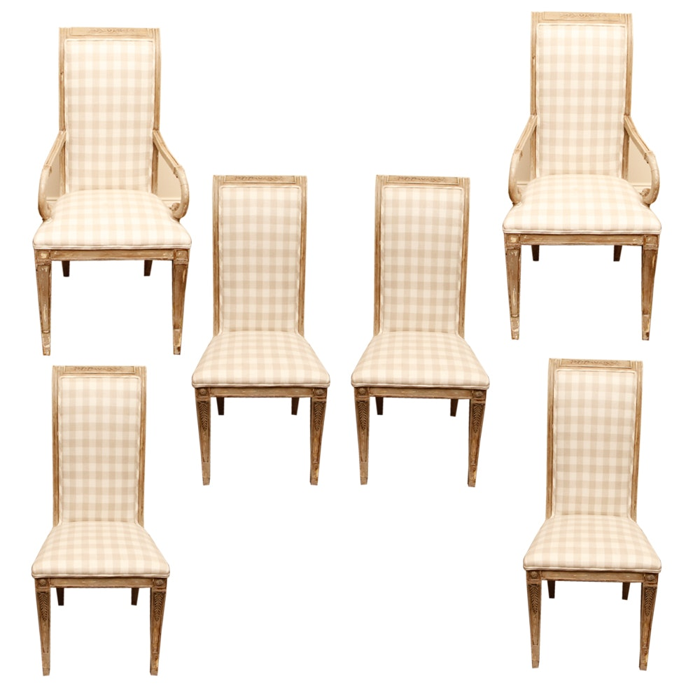 Six Provincial Style Dining Chairs