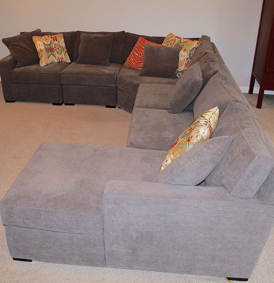 Magnificent 5 Piece Contemporary Grey Sectional Sofa Caraccident5 Cool Chair Designs And Ideas Caraccident5Info