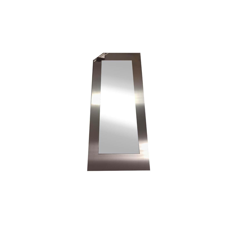 Stainless steel framed mirror