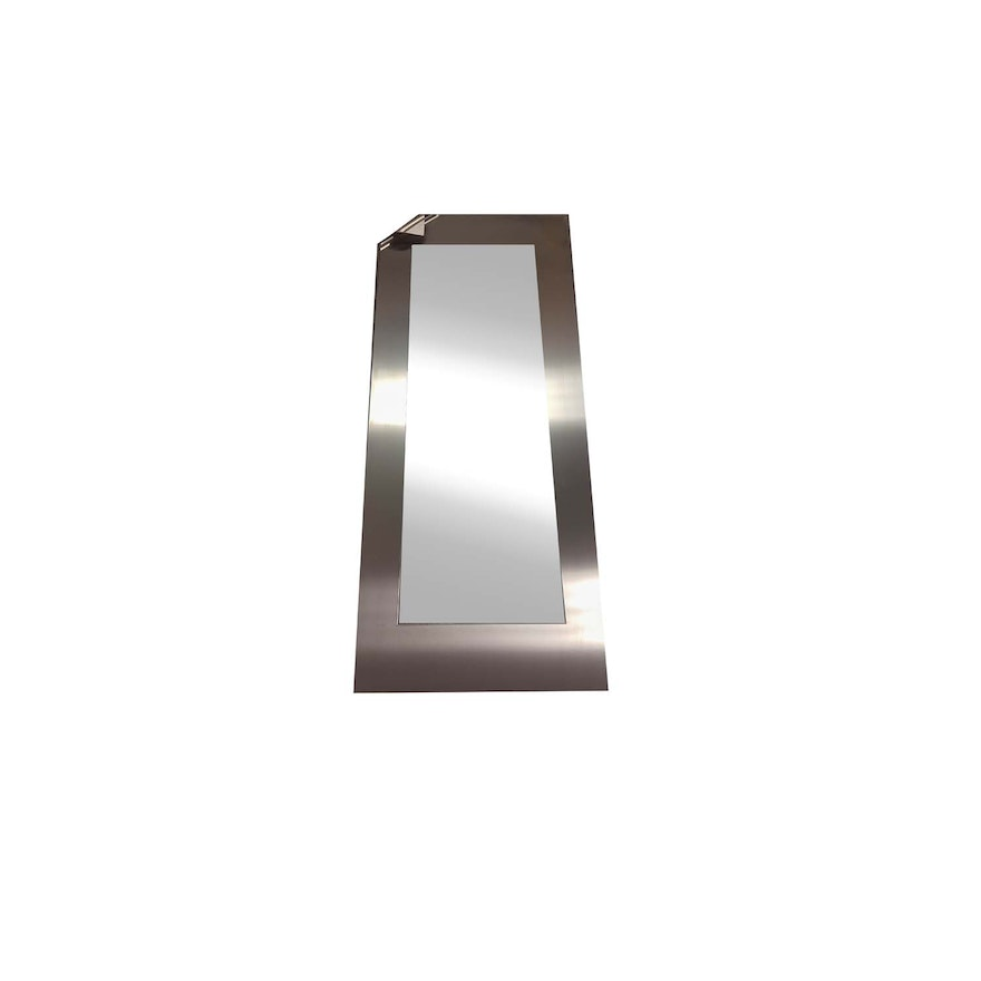 Stainless Steel Framed Wall Mirror : EBTH