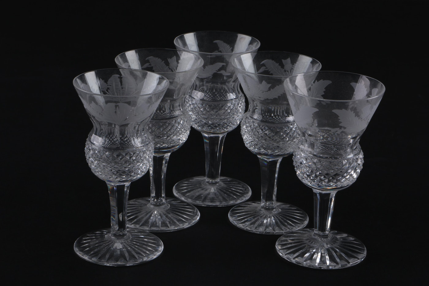 Crystal Decanter And Brandy Glasses