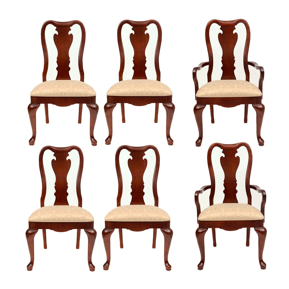 Set of Queen Anne Style Mahogany Dining Chairs