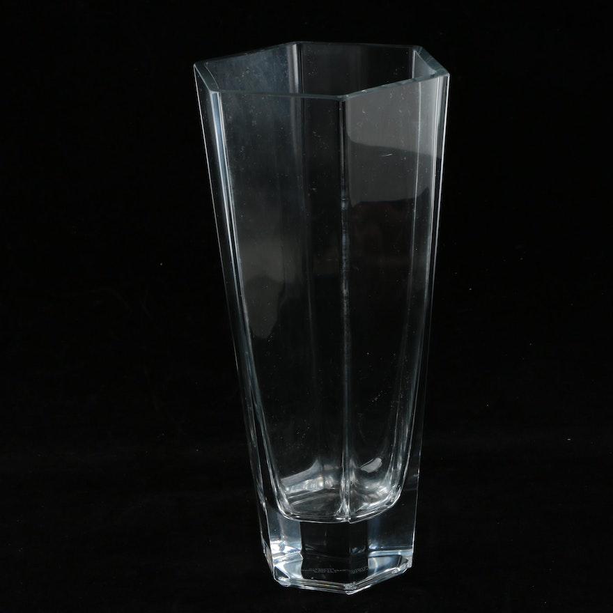 Tiffany Co Frank Lloyd Wright Crystal Vase Ebth