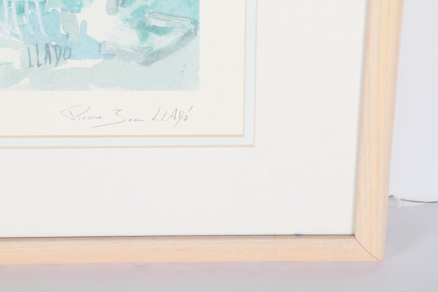 Pierre jean llado offset lithograph le jardin de sophie for Cd market galeria jardin