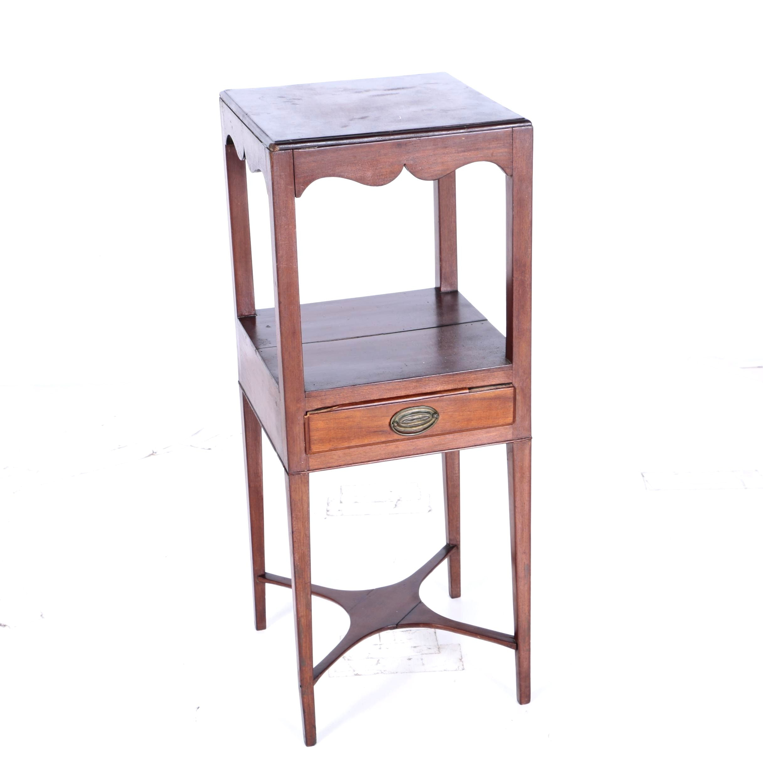 Vintage Federal Style Two Tier Side Table by Mesda