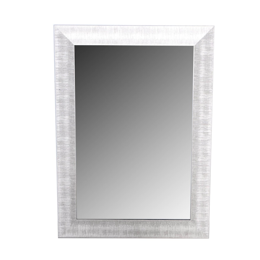 Beveled Wall Mirror in a Metal Wrapped Frame : EBTH