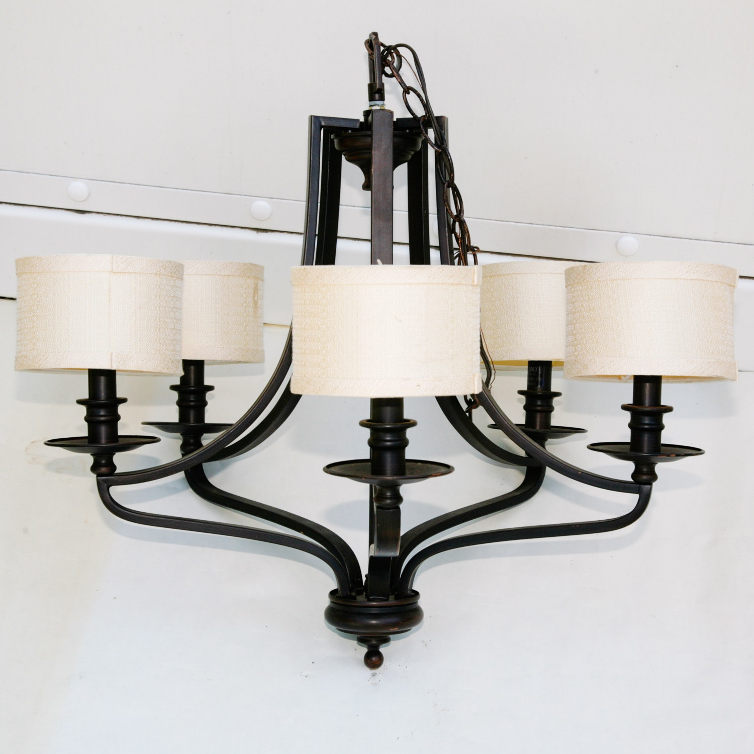 Five Light Chandelier With A Painted Finish Ebth