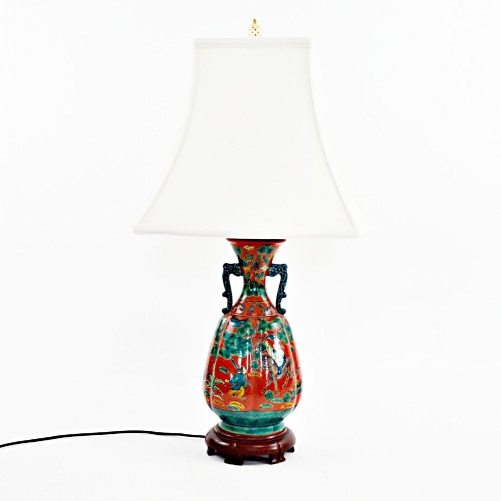 Chinese Ceramic Vase Style Lamp