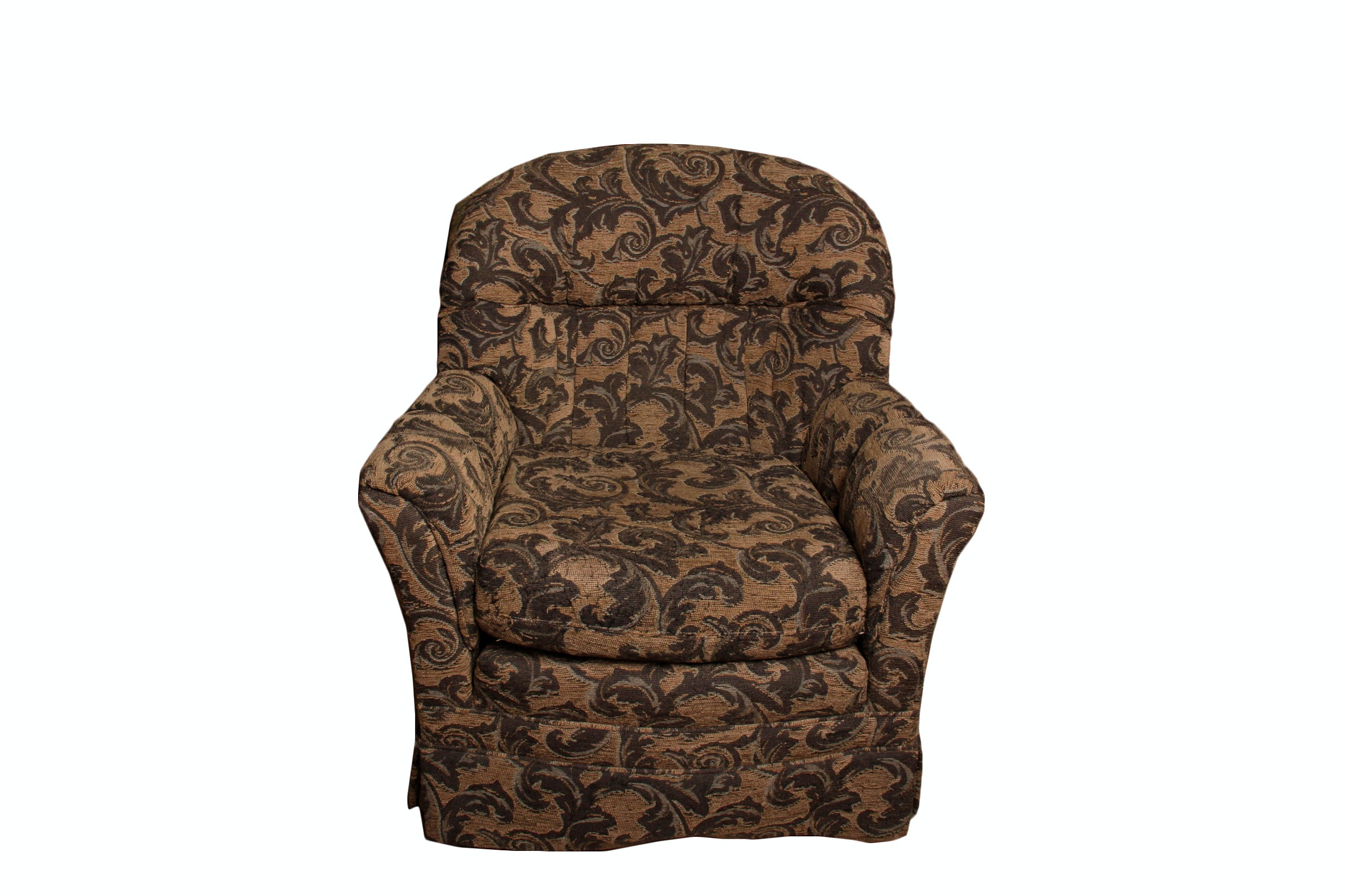 Upholstered Roll Arm Lounge Chair