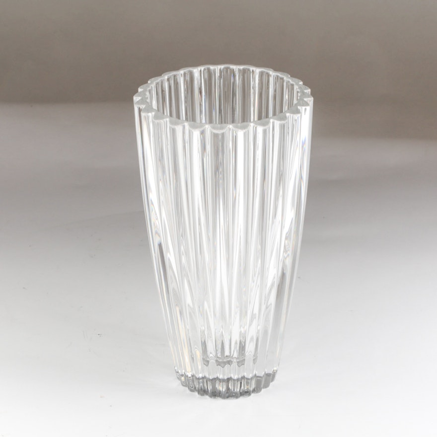 Tiffany And Co Heart Crystal Flower Vase Ebth